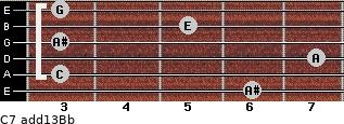 C7(add13)\Bb for guitar on frets 6, 3, 7, 3, 5, 3