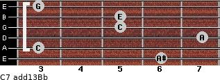 C7(add13)\Bb for guitar on frets 6, 3, 7, 5, 5, 3