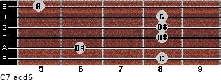 C-7(add6) for guitar on frets 8, 6, 8, 8, 8, 5