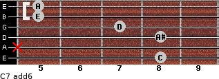 C7(add6) for guitar on frets 8, x, 8, 7, 5, 5
