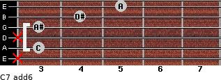 C-7(add6) for guitar on frets x, 3, x, 3, 4, 5