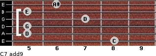 C7(add9) for guitar on frets 8, 5, 5, 7, 5, 6