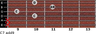 C7(add9) for guitar on frets x, x, 10, 9, 11, 10