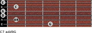 C7(add9)\G for guitar on frets 3, 1, 0, 0, 1, 0