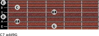C7(add9)\G for guitar on frets 3, 1, 0, 3, 1, 0