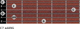C7(add9)\G for guitar on frets 3, 1, 0, 5, 1, 0