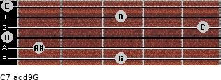 C7(add9)\G for guitar on frets 3, 1, 0, 5, 3, 0