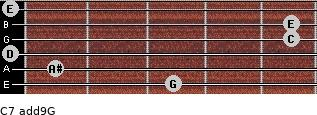 C7(add9)\G for guitar on frets 3, 1, 0, 5, 5, 0