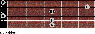 C7(add9)\G for guitar on frets 3, 3, 0, 3, 5, 0