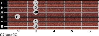 C7(add9)\G for guitar on frets 3, 3, 2, 3, 3, 3