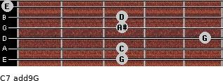 C7(add9)\G for guitar on frets 3, 3, 5, 3, 3, 0