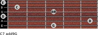C7(add9)\G for guitar on frets 3, 5, 0, 3, 1, 0