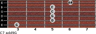 C7(add9)\G for guitar on frets 3, 5, 5, 5, 5, 6