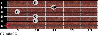 C7(add9)\G for guitar on frets x, 10, 10, 9, 11, 10