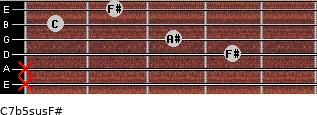 C7b5sus/F# for guitar on frets x, x, 4, 3, 1, 2