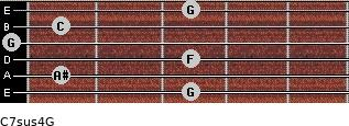 C7sus4\G for guitar on frets 3, 1, 3, 0, 1, 3