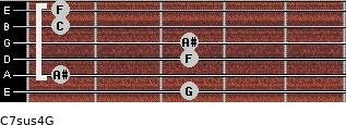 C7sus4\G for guitar on frets 3, 1, 3, 3, 1, 1