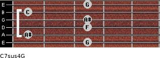 C7sus4\G for guitar on frets 3, 1, 3, 3, 1, 3