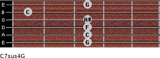 C7sus4\G for guitar on frets 3, 3, 3, 3, 1, 3