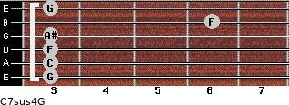 C7sus4\G for guitar on frets 3, 3, 3, 3, 6, 3