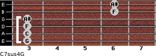 C7sus4\G for guitar on frets 3, 3, 3, 3, 6, 6
