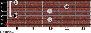 C7sus4\G for guitar on frets x, 10, 8, 10, 11, 8