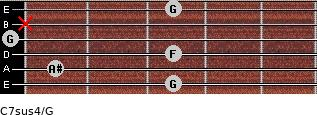 C7sus4\G for guitar on frets 3, 1, 3, 0, x, 3
