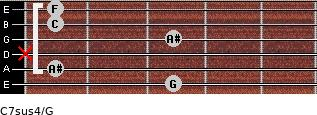 C7sus4\G for guitar on frets 3, 1, x, 3, 1, 1