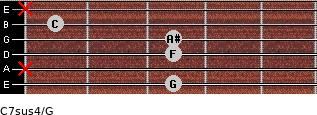 C7sus4\G for guitar on frets 3, x, 3, 3, 1, x