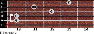C7sus4\G for guitar on frets x, 10, 10, 12, 11, 13