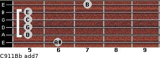 C9/11/Bb add(7) guitar chord
