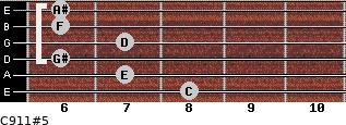 C9/11#5 for guitar on frets 8, 7, 6, 7, 6, 6
