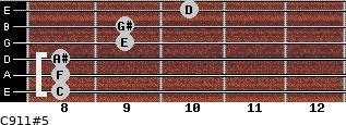 C9/11#5 for guitar on frets 8, 8, 8, 9, 9, 10