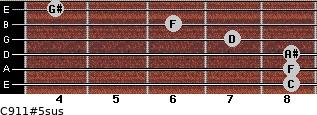 C9/11#5sus for guitar on frets 8, 8, 8, 7, 6, 4