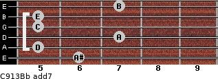 C9/13/Bb add(7) guitar chord