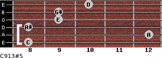C9/13#5 for guitar on frets 8, 12, 8, 9, 9, 10