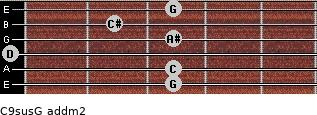 C9sus/G add(m2) guitar chord