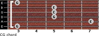 C\G for guitar on frets 3, 7, 5, 5, 5, 3