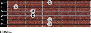 CMaj6\G for guitar on frets 3, 3, 2, 2, 1, 3