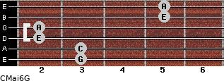 CMaj6\G for guitar on frets 3, 3, 2, 2, 5, 5