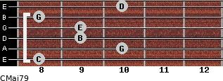 CMaj7/9 for guitar on frets 8, 10, 9, 9, 8, 10