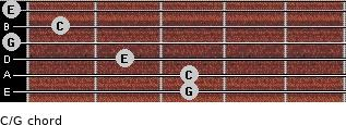 C\G for guitar on frets 3, 3, 2, 0, 1, 0