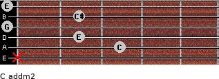 C add(m2) for guitar on frets x, 3, 2, 0, 2, 0