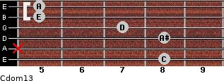 Cdom13 for guitar on frets 8, x, 8, 7, 5, 5