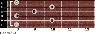 Cdom7/13 for guitar on frets 8, 10, 8, 9, 10, 8
