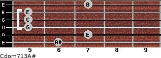 Cdom7\13\A# for guitar on frets 6, 7, 5, 5, 5, 7
