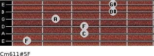 Cm6/11#5/F for guitar on frets 1, 3, 3, 2, 4, 4