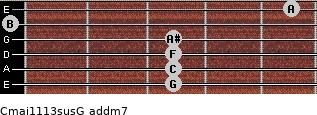 Cmaj11/13sus/G add(m7) guitar chord