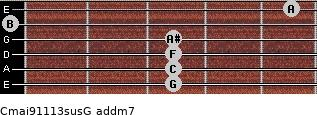 Cmaj9/11/13sus/G add(m7) guitar chord