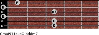 Cmaj9/11sus/G add(m7) guitar chord
